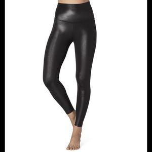 BEYOND YOGA Pearlized Black High Rise Leggings NEW